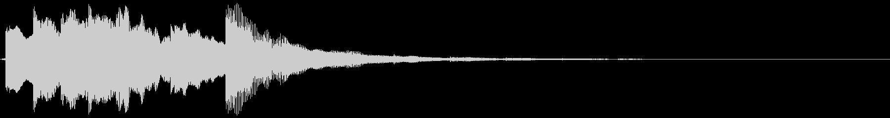 デジタルなトイ ピアノっぽいサウンドロゴの未再生の波形