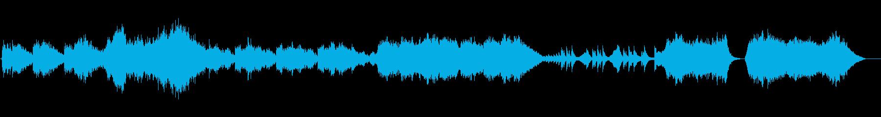 恋愛の回想シーンのBGMの再生済みの波形