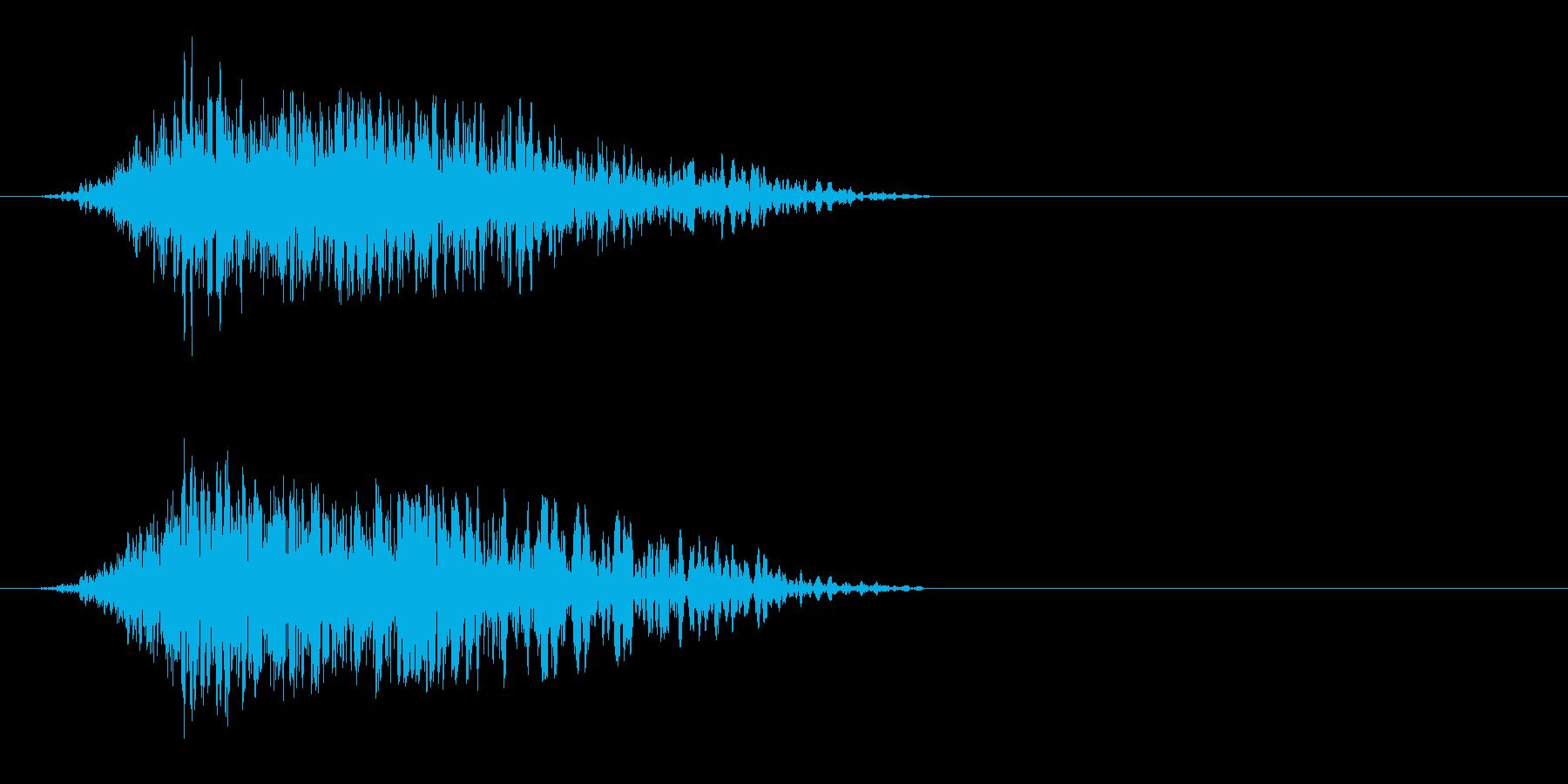 ドラゴン羽ばたき(バサァッッ)の再生済みの波形