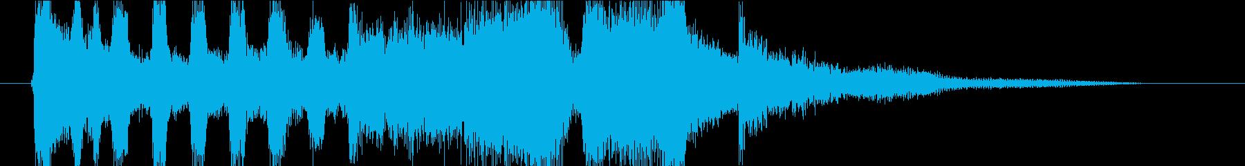 【ジングル】ブラスで始まりを演出する曲の再生済みの波形