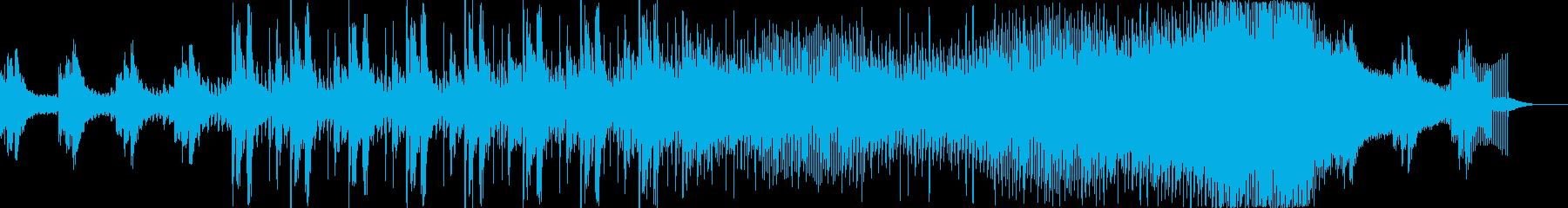 神秘的な宇宙をイメージしたデジタル楽曲の再生済みの波形