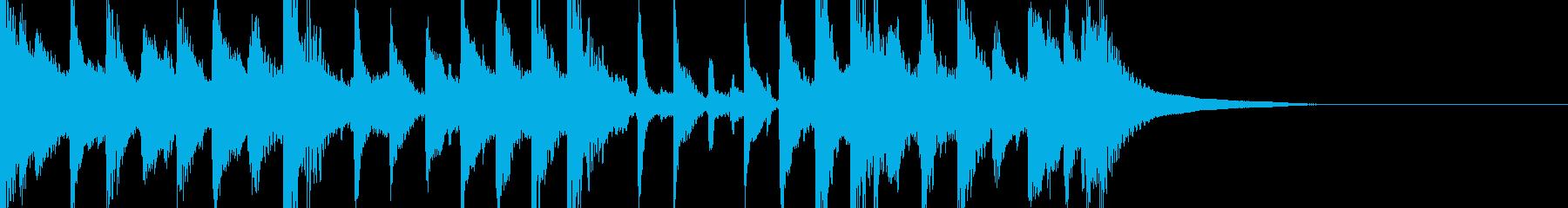 エスニック風のジングルの再生済みの波形