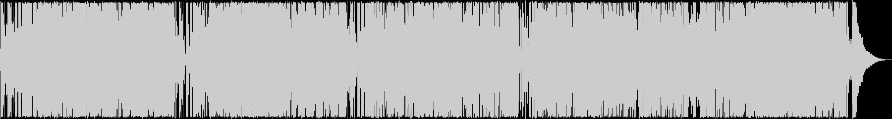 ロックンロール調のギターサウンドの未再生の波形