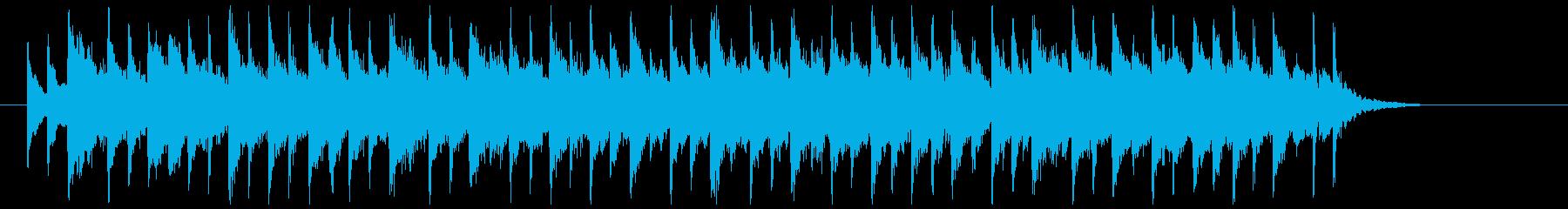 和楽器を使った幻想的な和風バラードBGMの再生済みの波形