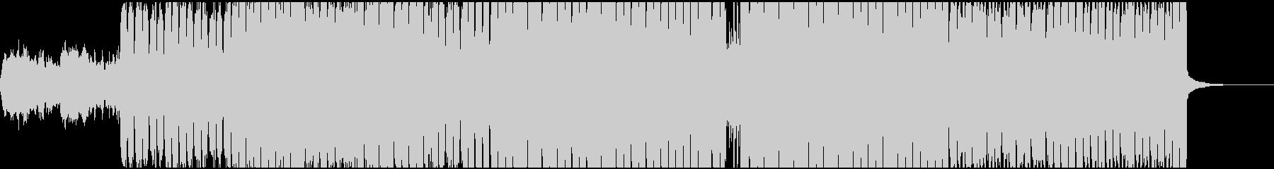 シリアスなヒップホップBGMの未再生の波形