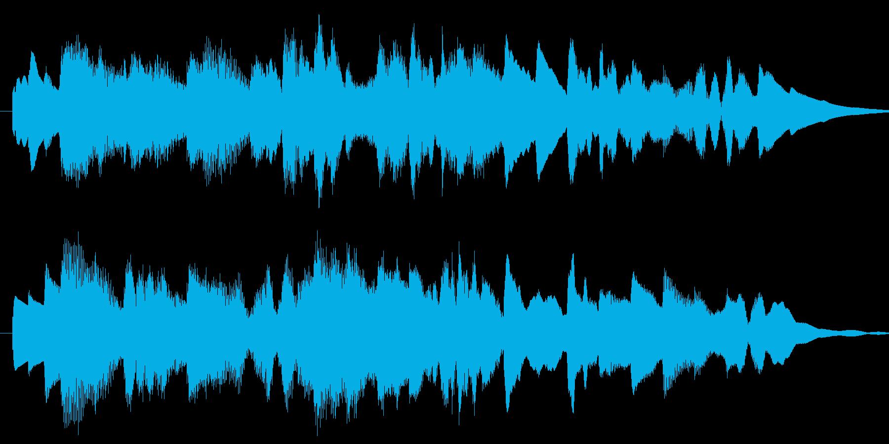 切なく幻想的なオルゴール風の曲の再生済みの波形