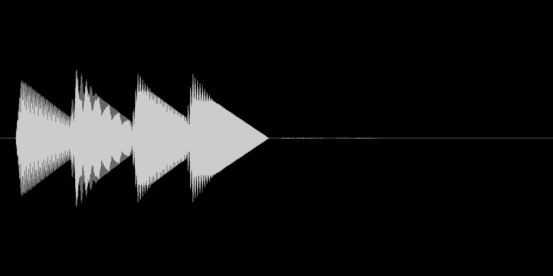 8bitのシステム音ピロロロン↑の未再生の波形