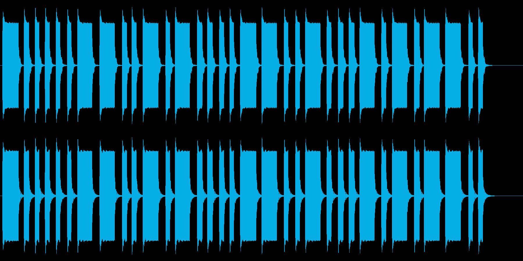 モールス信号 ぴ ぴー ピー ピ ピ…の再生済みの波形