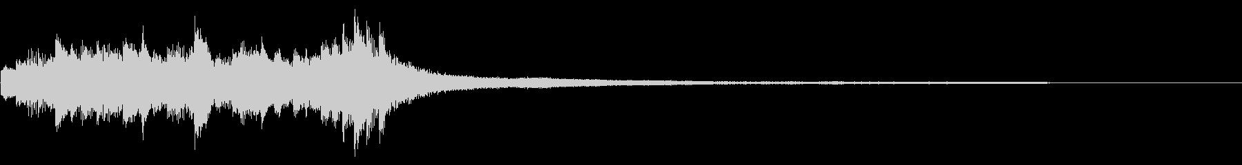 和風のジングル10-ピアノソロの未再生の波形