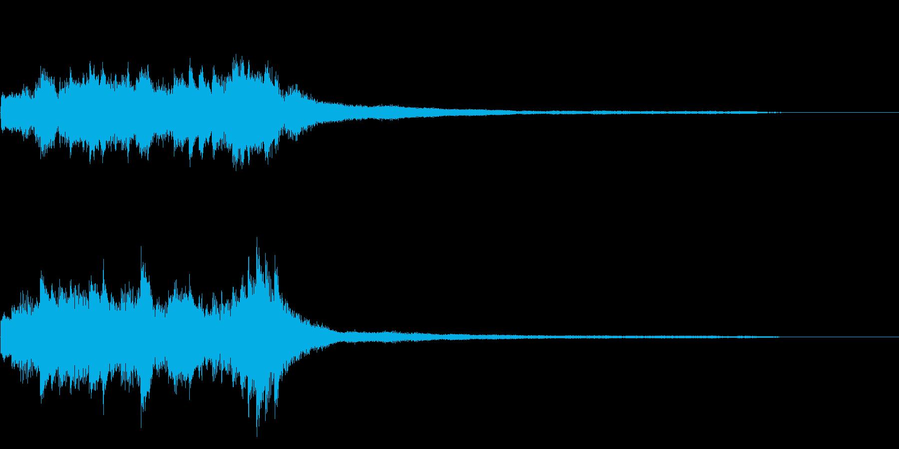 和風のジングル10-ピアノソロの再生済みの波形