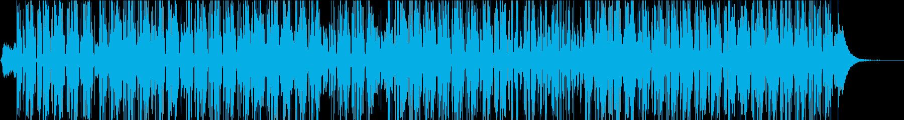 電気楽器。風変わりな、奇抜なグルー...の再生済みの波形