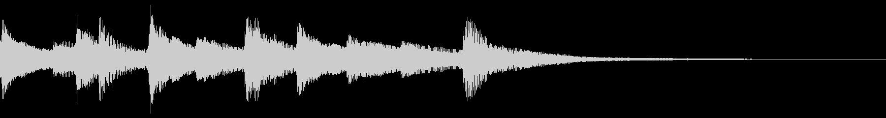 明るいピアノのジングル13の未再生の波形