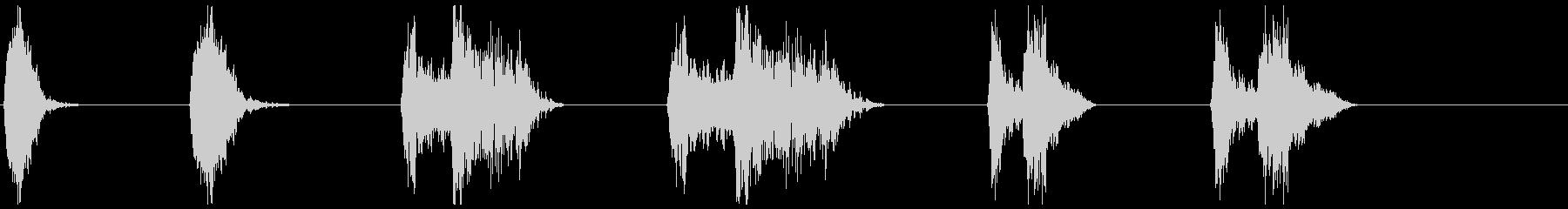 モンスター、タイプ3、Ro音X6の未再生の波形