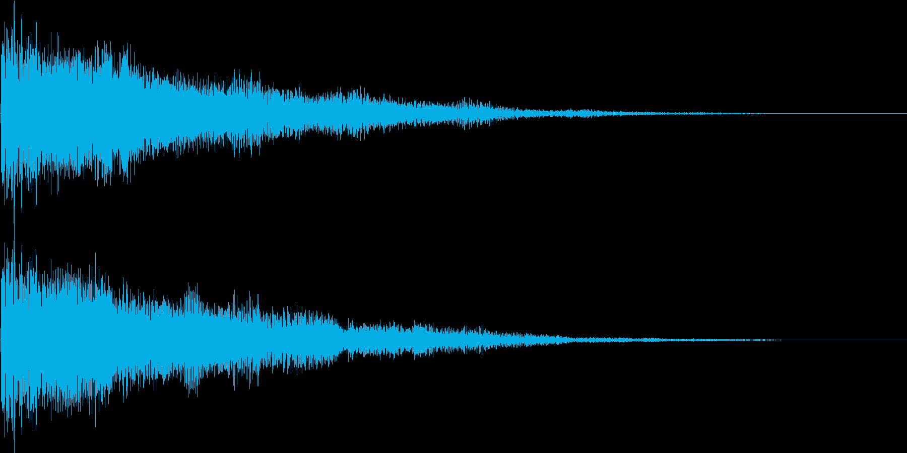 ピコーン(決定、移動、レベルアップ)の再生済みの波形