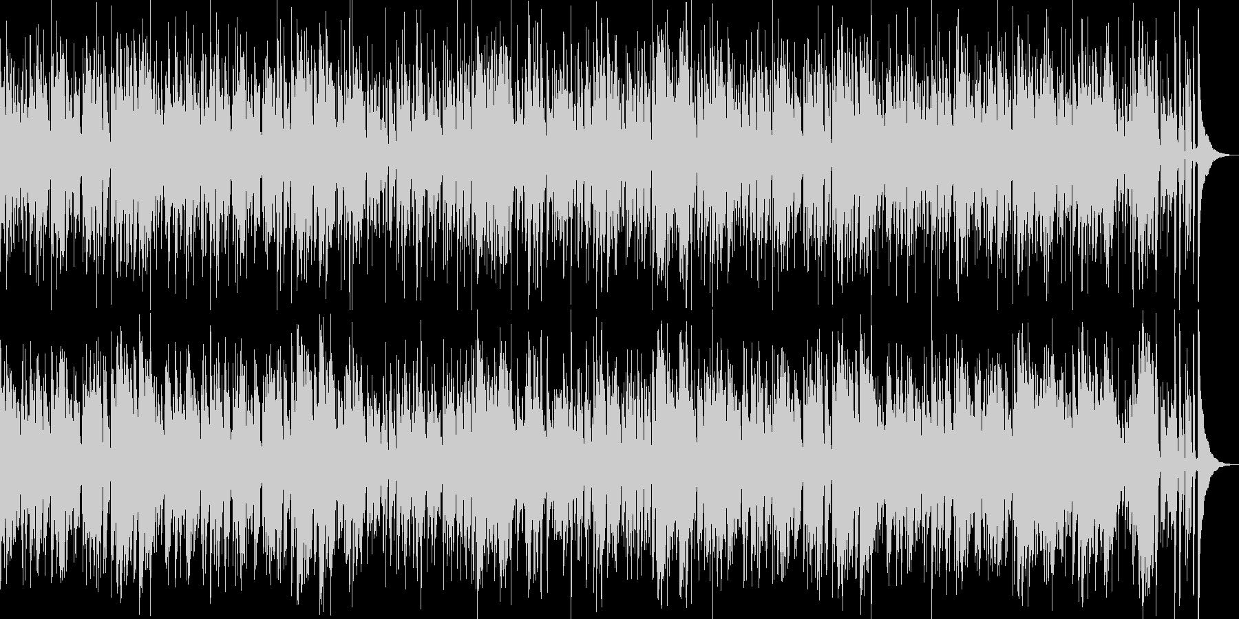 お洒落なジャズピアノトリオ16 ブルースの未再生の波形