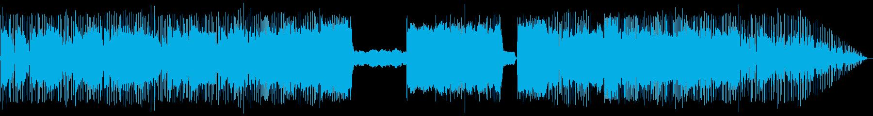 シャープなギターロック:ハードボイルド向の再生済みの波形