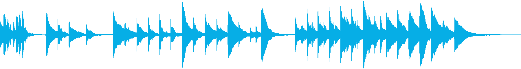 ヨーロッパの朝をイメージしたピアノBGMの再生済みの波形