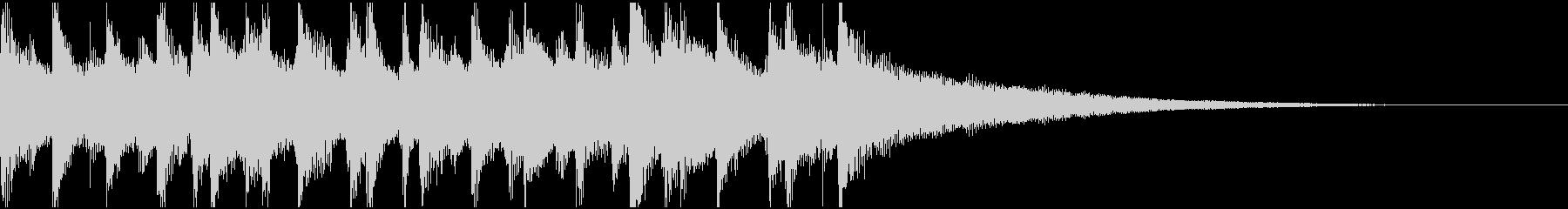 15秒ウクレレ、トイピアノの楽しい楽曲Bの未再生の波形