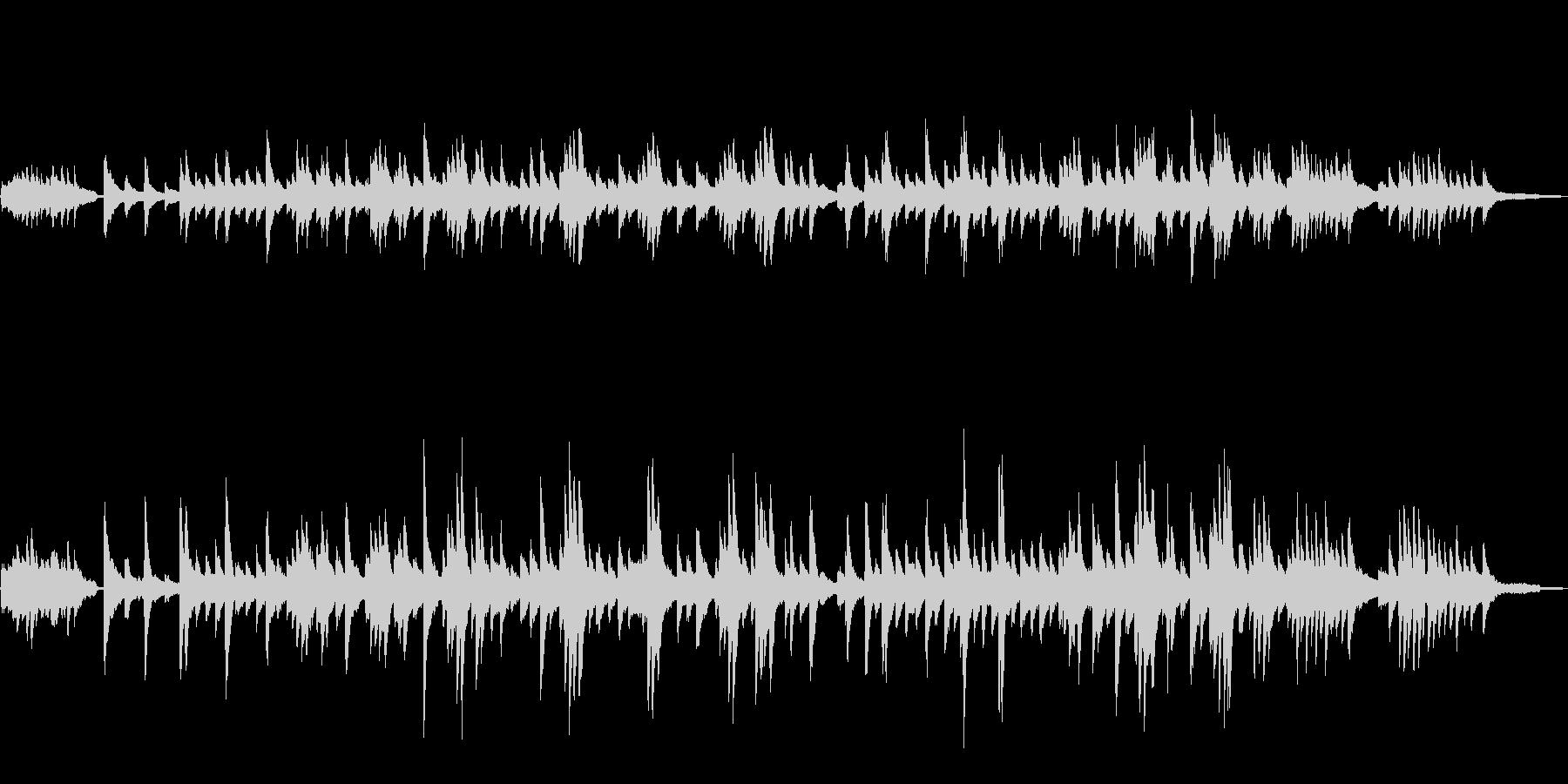 グノーのアベマリアをピアノジャズアレンジの未再生の波形