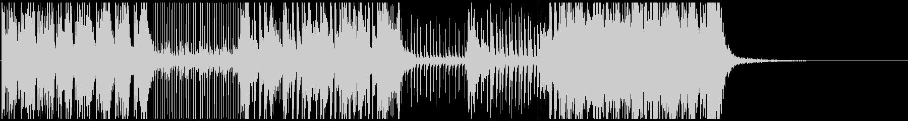 音、リズムが心地良い本格派「和太鼓」曲の未再生の波形