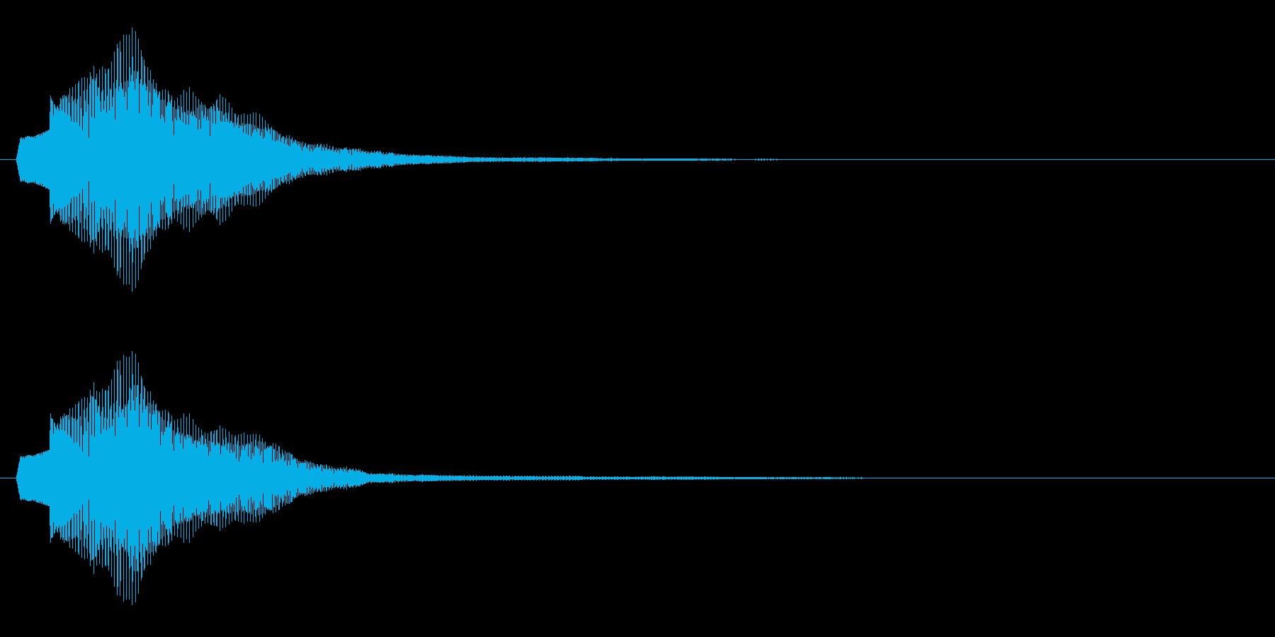 【アクセント】綺麗な決定音(短1)の再生済みの波形