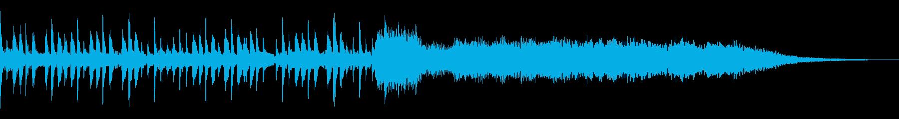 キックドラムとエンディングの長いニ...の再生済みの波形