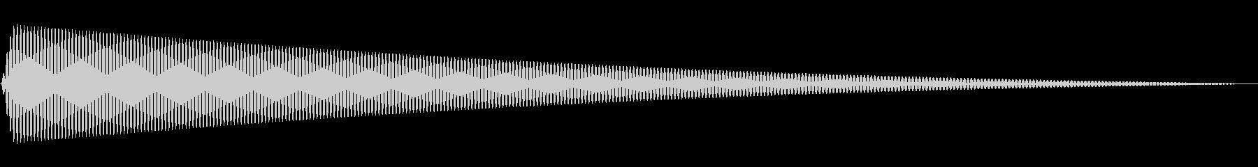 【ピッ】シンプルな選択音の未再生の波形