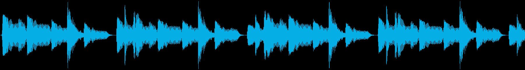 ダブステップのベーシックリズムの再生済みの波形