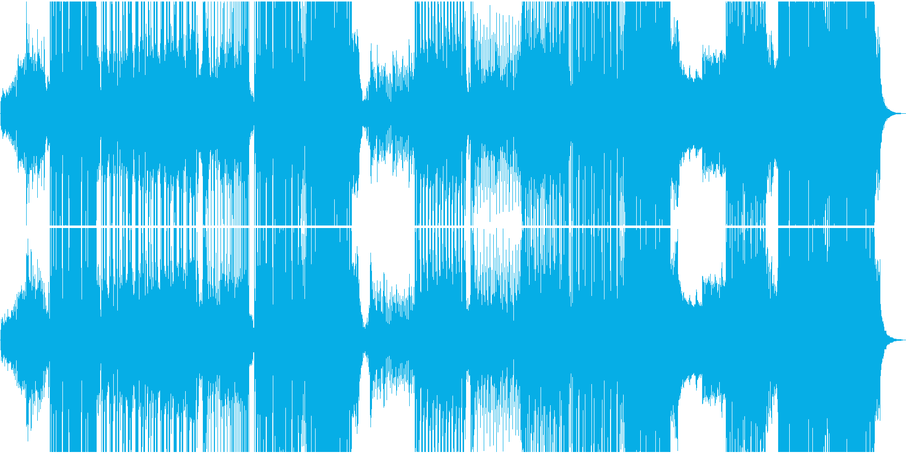 EDM切ないR&B系の和風/メロなしの再生済みの波形