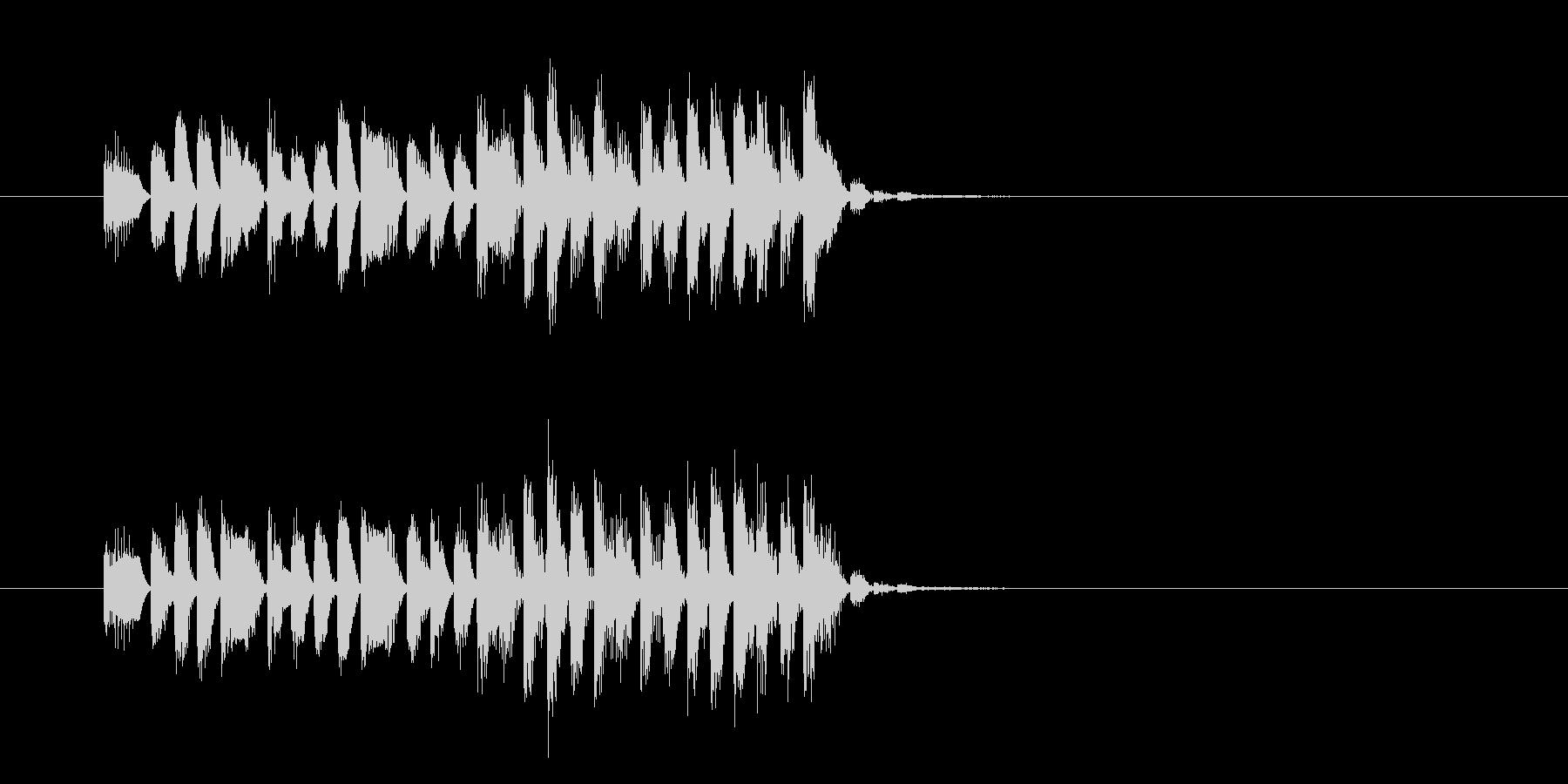 激しく勢いがあるテクノハードロックの未再生の波形
