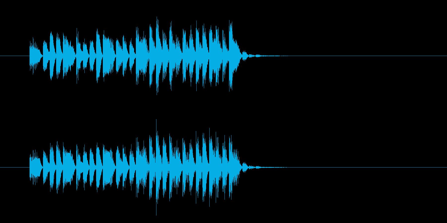 激しく勢いがあるテクノハードロックの再生済みの波形