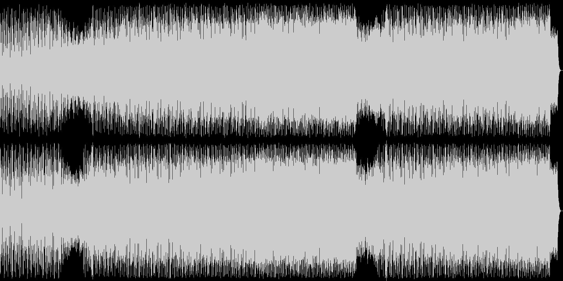 軽快な掛け声が盛り上がりを演出する曲の未再生の波形