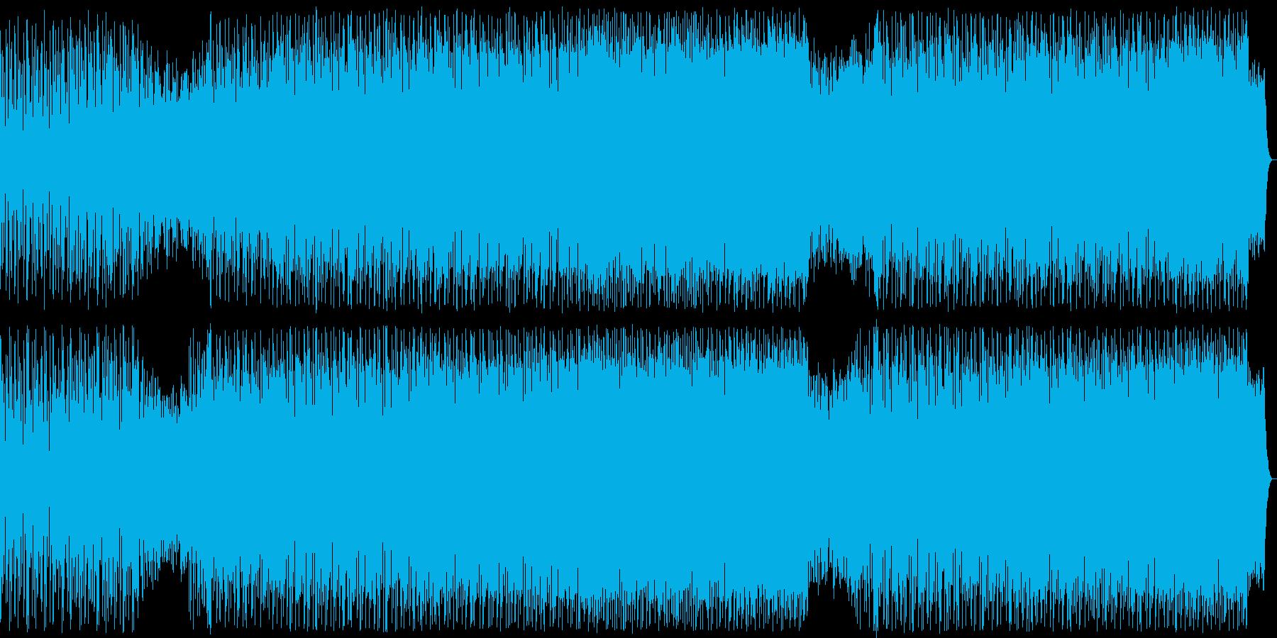 軽快な掛け声が盛り上がりを演出する曲の再生済みの波形