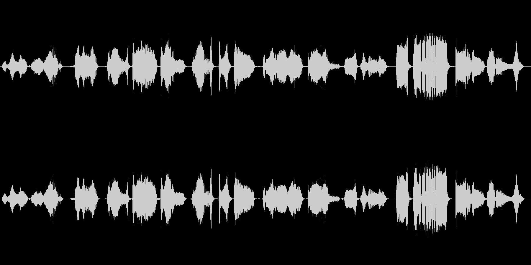 怪談をイメージした篠笛独奏の未再生の波形