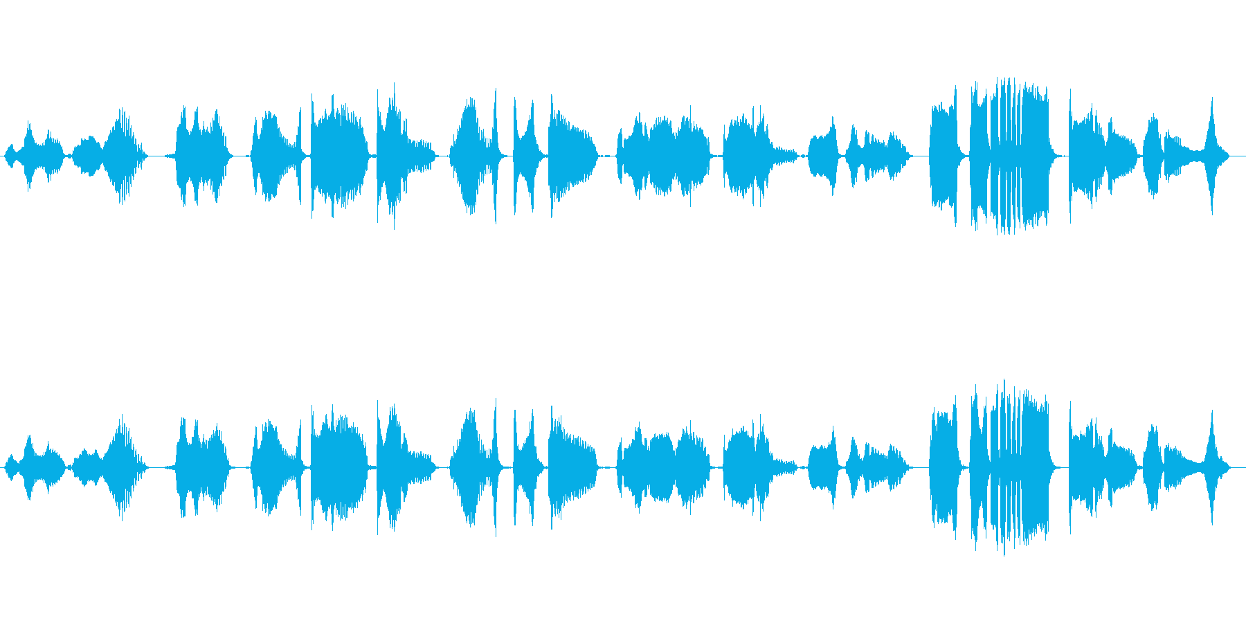 怪談をイメージした篠笛独奏の再生済みの波形