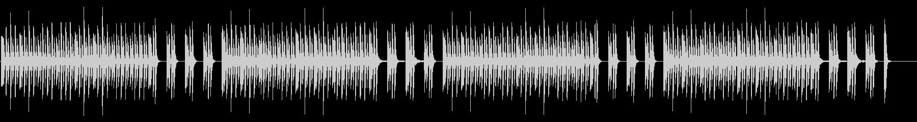 ナレーションを邪魔しないシンプルなピアノの未再生の波形