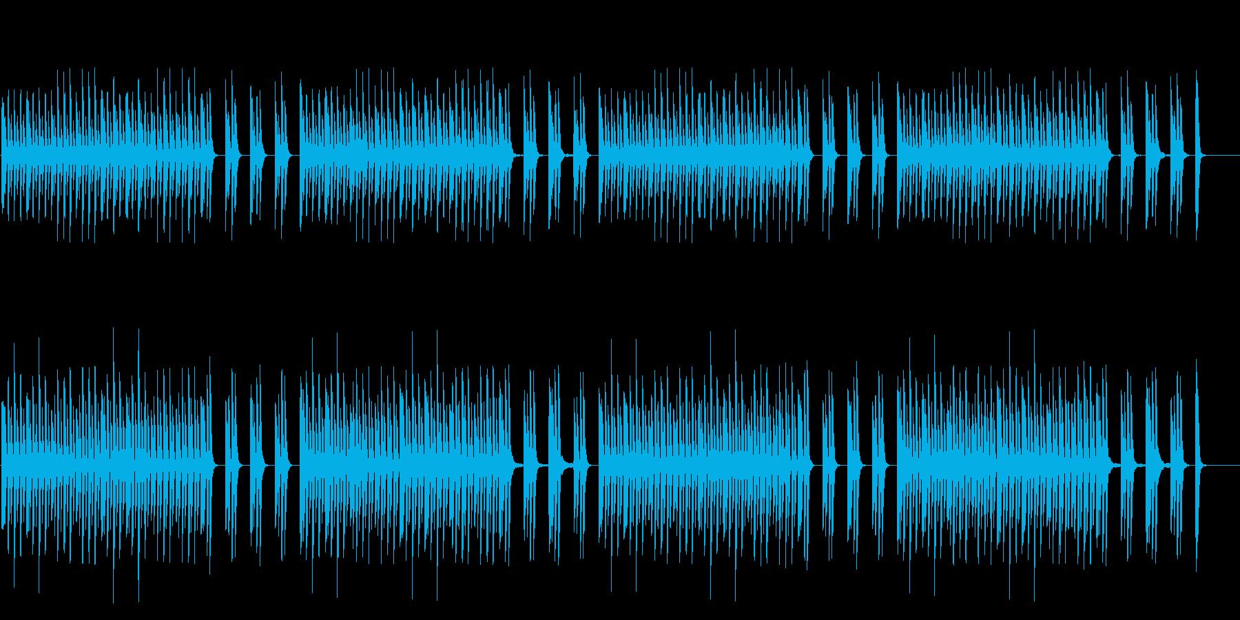 ナレーションを邪魔しないシンプルなピアノの再生済みの波形