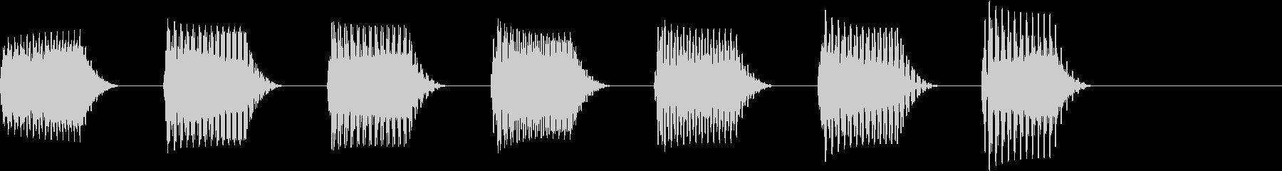 ワープしそうな音01の未再生の波形