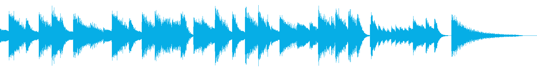 けだるく甘美なジャズピアノジングルの再生済みの波形