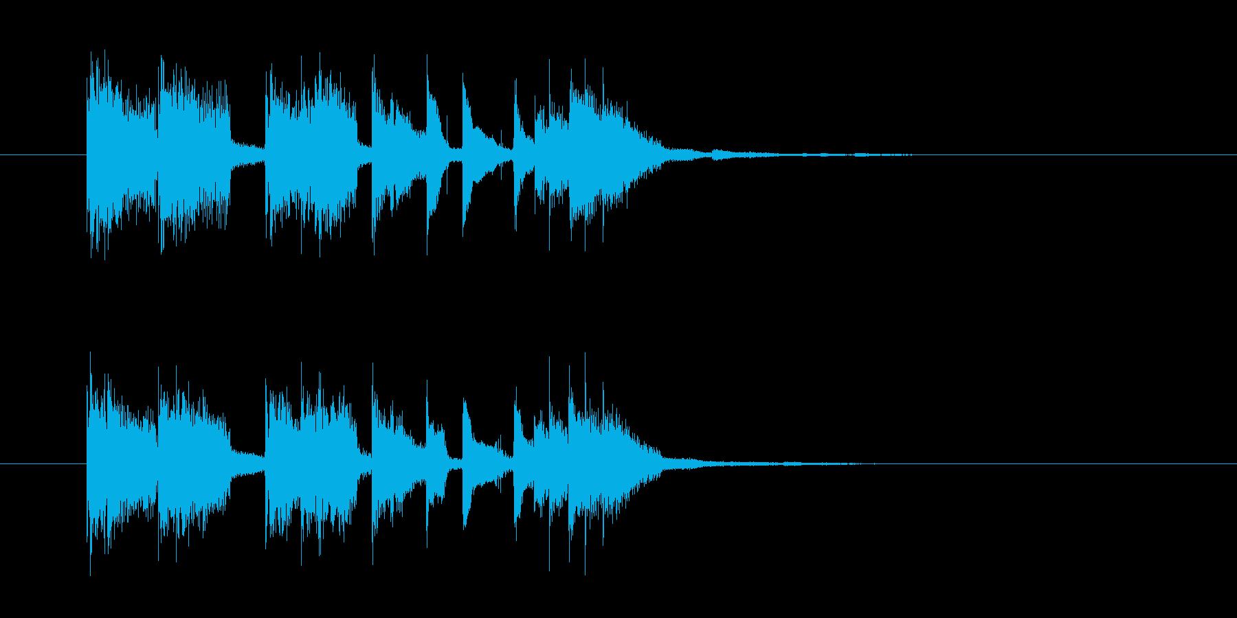 場面転換やアイキャッチなどに最適なロックの再生済みの波形
