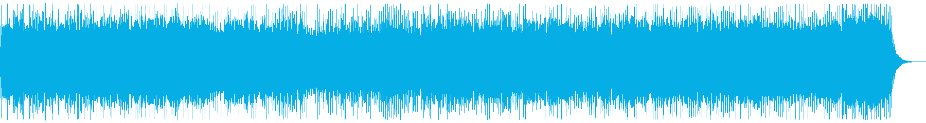 勇壮な3連リズム系のメタルBGMの再生済みの波形