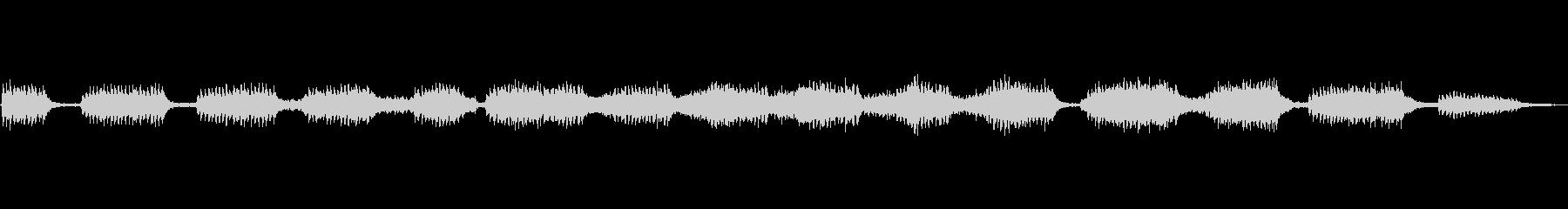 キリギリスの鳴き声の未再生の波形