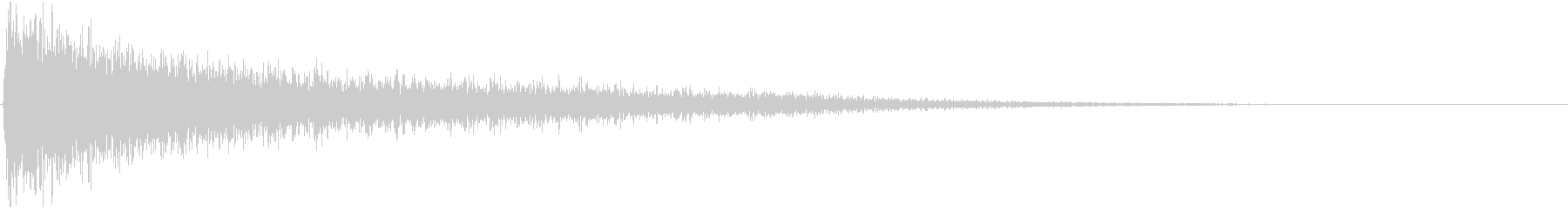 ガーン2(ピアノを打ち付ける音)の未再生の波形
