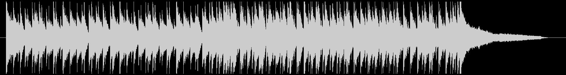 シャッフルリズムの陽気なポップスの未再生の波形