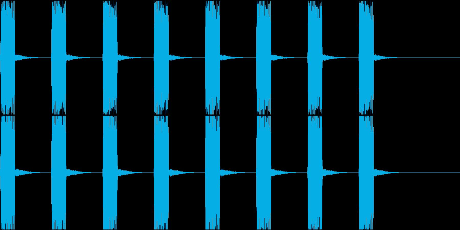 制限時間を示す緊迫感のあるサイレンの音の再生済みの波形