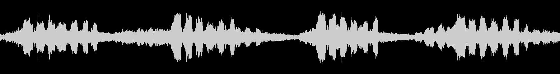 ミンミンゼミの鳴き声(ループ)の未再生の波形