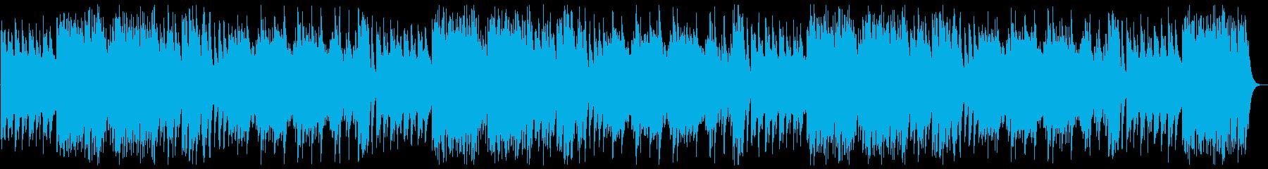 優しい音階のハンドベルのオルゴールの曲の再生済みの波形