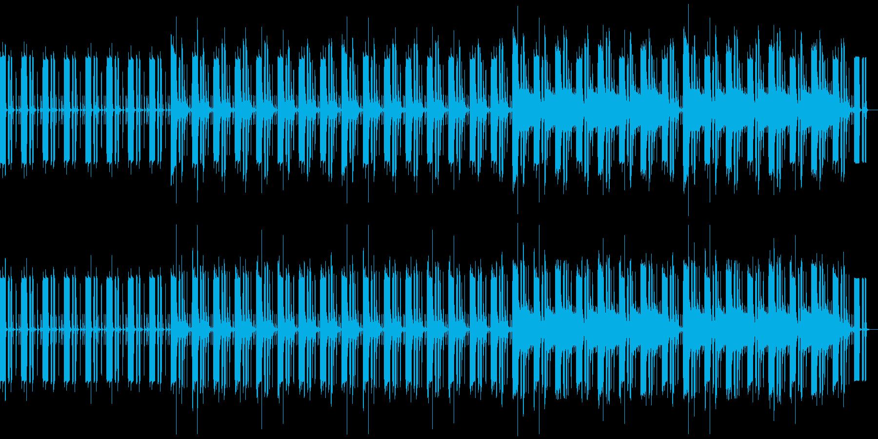 素朴でのどかな風景に似合う曲の再生済みの波形