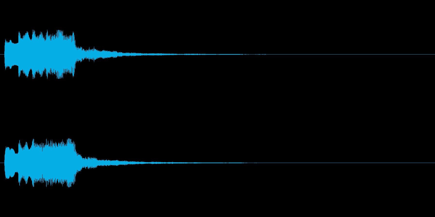 【チャイム 注意02-down】の再生済みの波形
