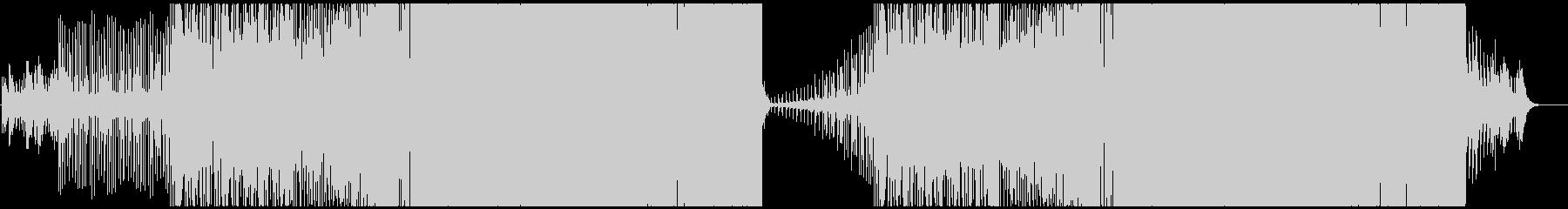 パワフルでアップテンポなEDMの未再生の波形